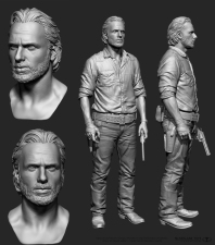 Body sculpted by Majid Smiley, head sculpted by Rafael Grassetti